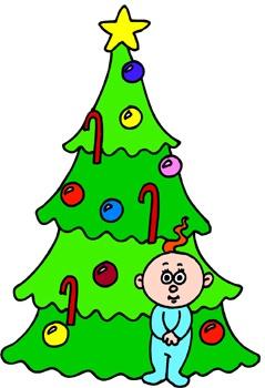 baba a karácsonyf alatt