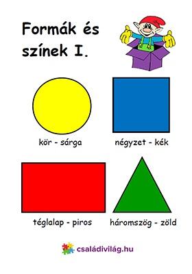 formák és színek 1