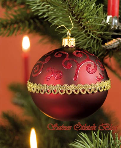 karácsonyfa gömb