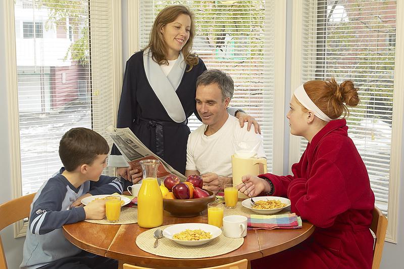 családi reggeli
