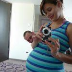 30 hetes terhesen, azóta már megszületett Peti úrfi :)