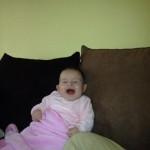 Bordi Csenge, 7 hónapos